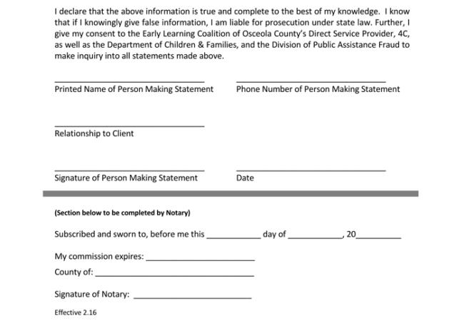 Notarized Declaration Letter 1