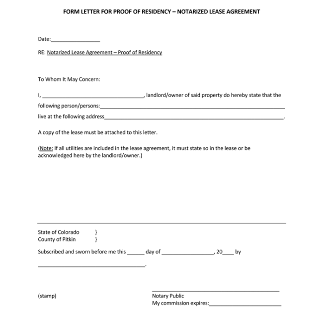 letter template with notary  14+ Notarized Letter Templates & Samples (Writing Guidelines)