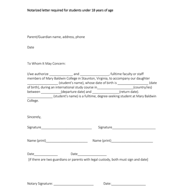 Sample Notarization Letter For Students