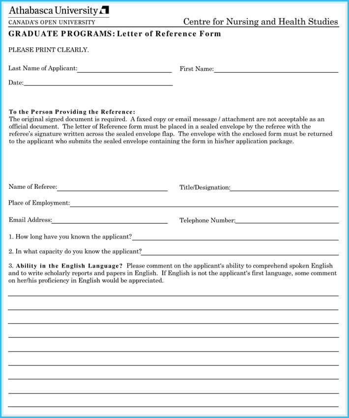 editable nursing reference letter