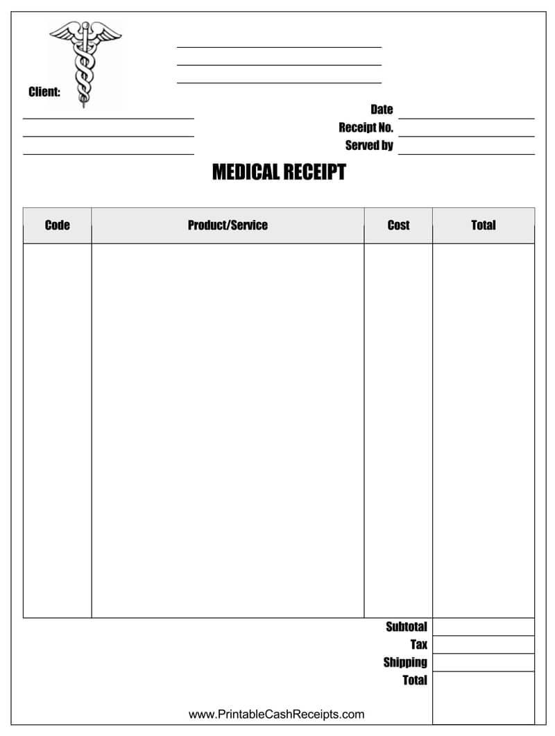Official Medical Receipt