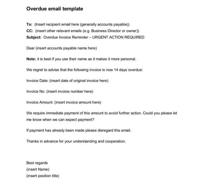 Overdue Invoice Letter - 7+ Samples for Word and PDF