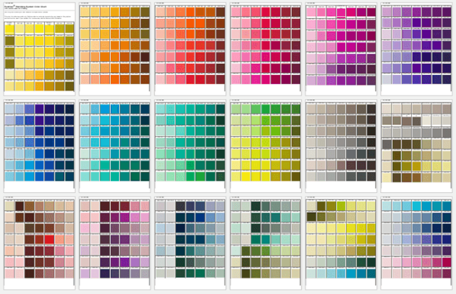 pms color chart template - Color Template