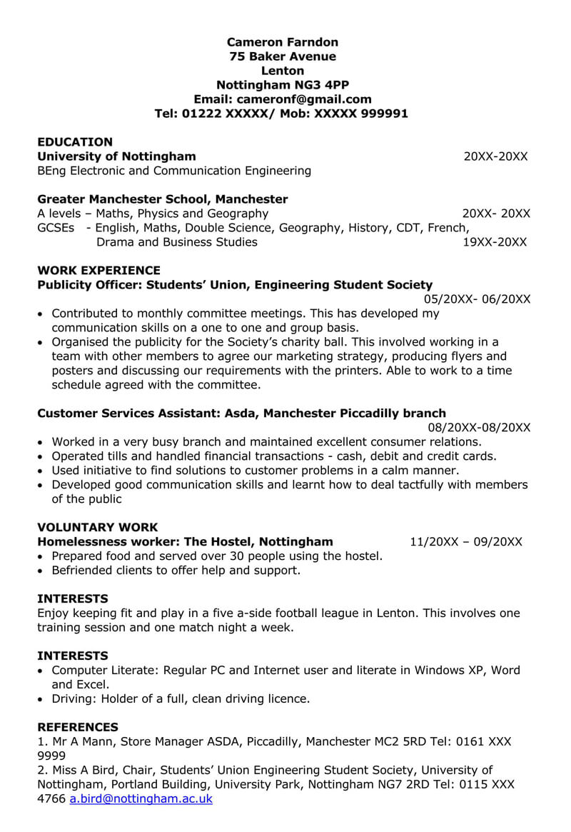 Part-Time Job Cover Letter With Work Experience