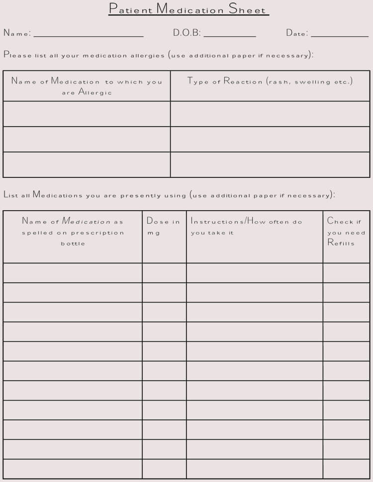It is an image of Free Printable Medication Log with home use
