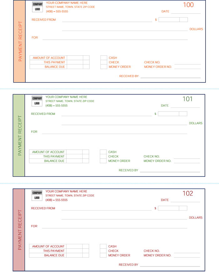 Cash Payment Receipt Template:  Money Receipt Template