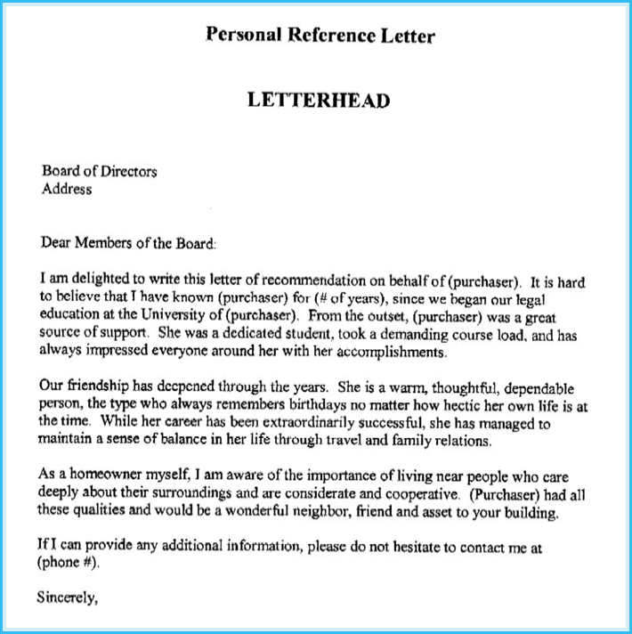How To Start A Reference Letter.Personal Reference Letter 11 Samples Formats Writing Tips