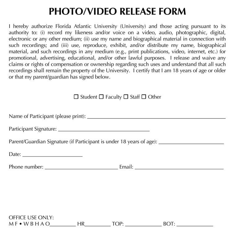 Photo Release Form 21