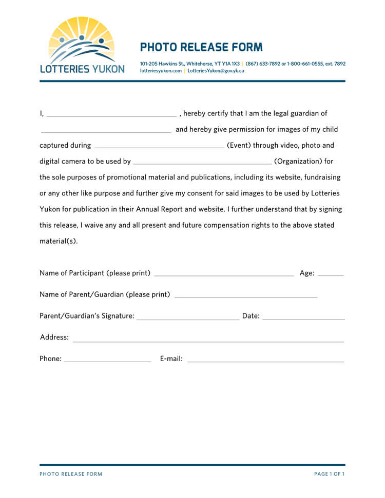 Photo Release Form 26