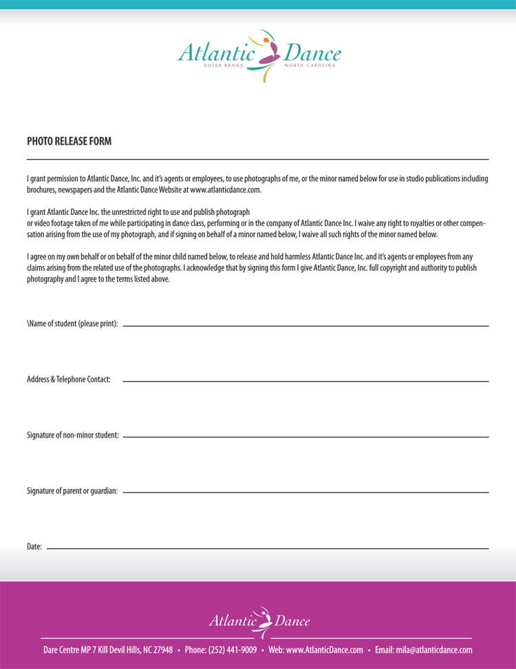 Photo Release Form 31