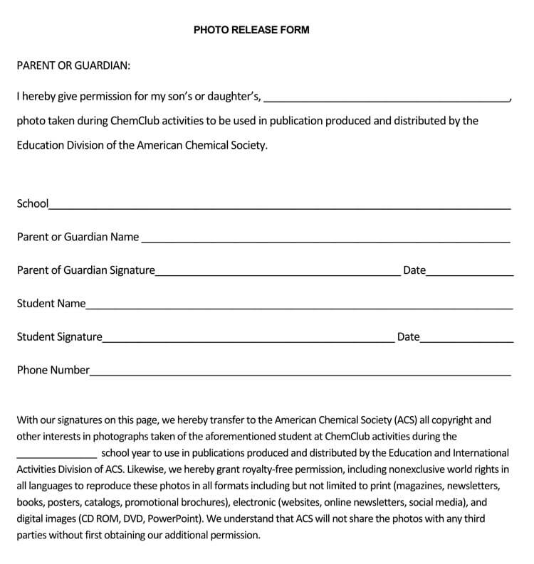 Photo Release Form 32