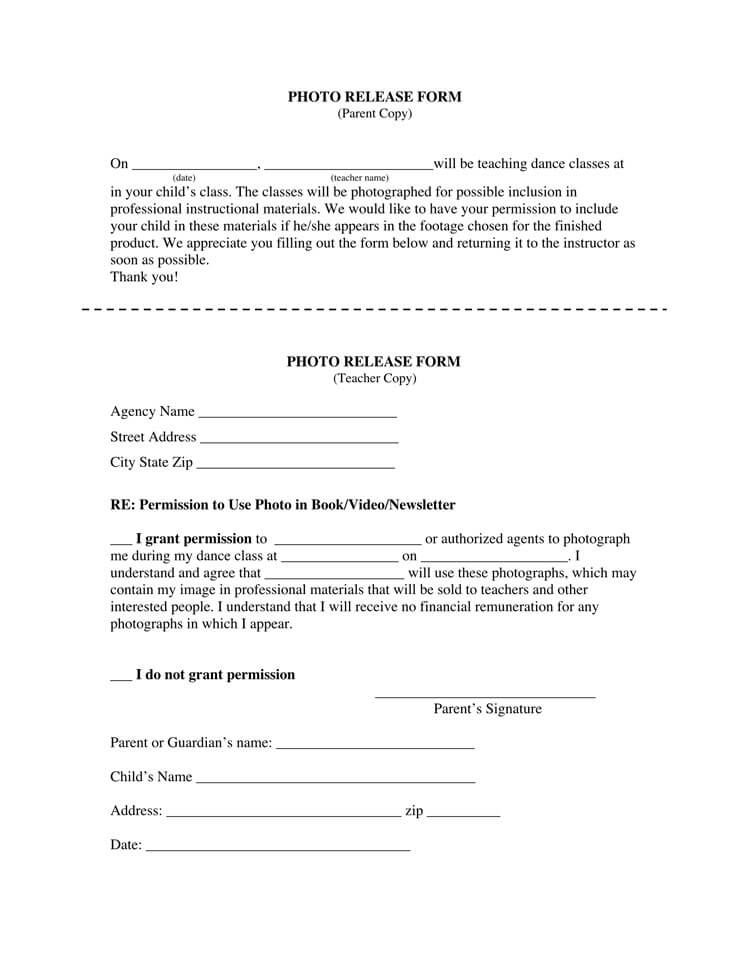 Photo Release Form 34