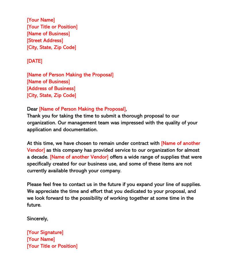 Polite Rejection Letter 02