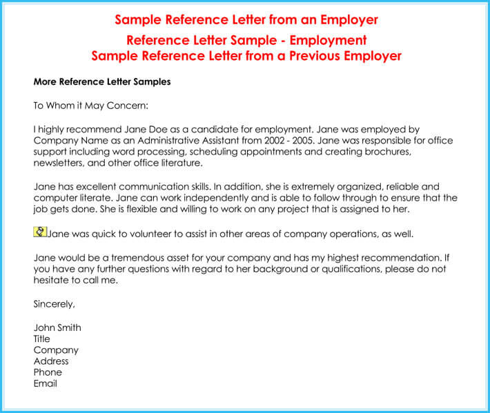 sample of it letter