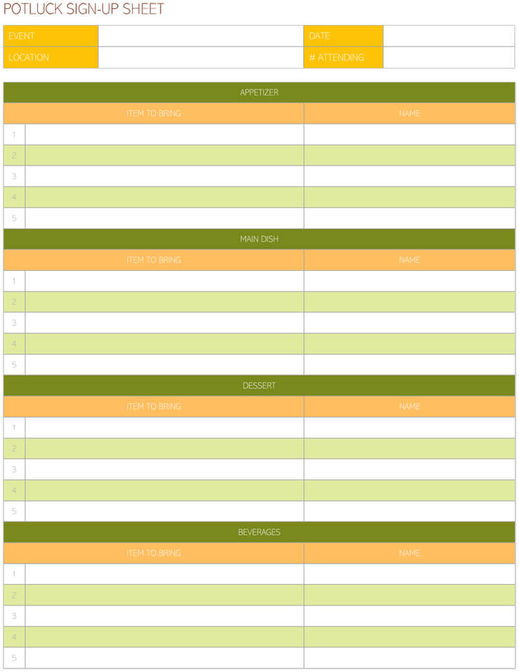 16 Free Sign In Sign Up Sheet Templates For Excel Word