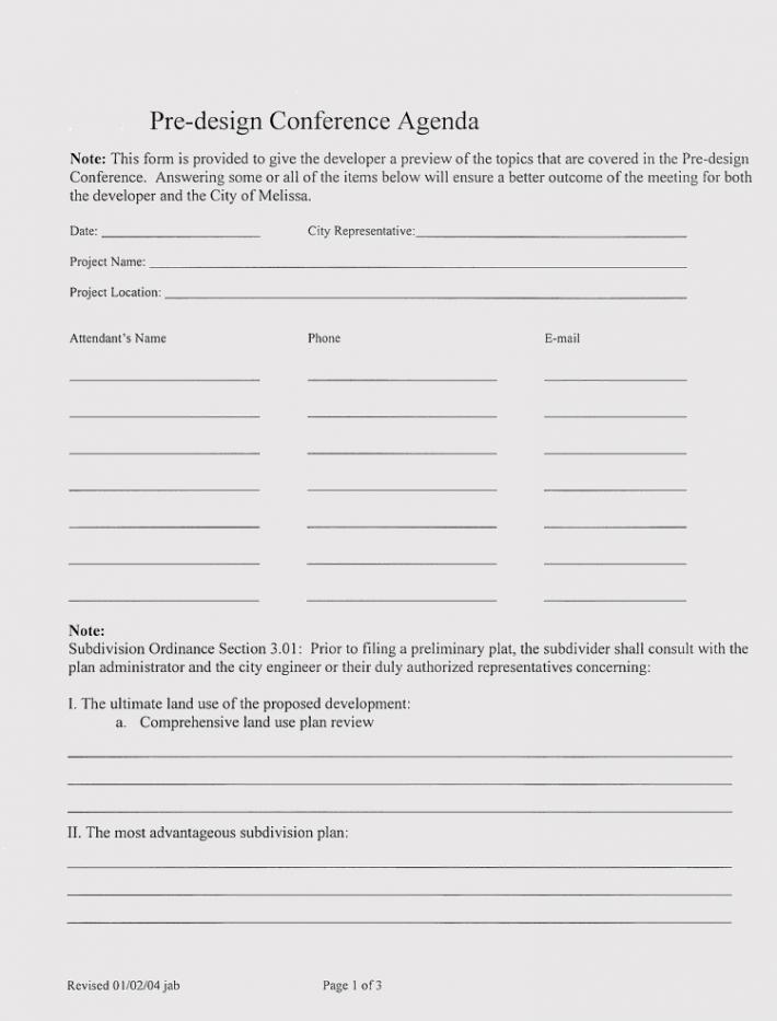 Conference Agenda Design Format