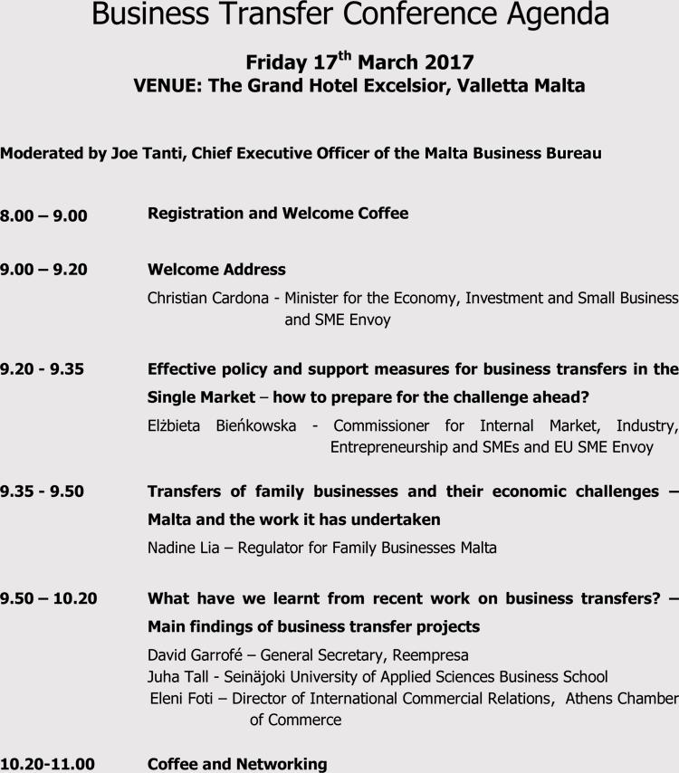 Event Conference Agenda Template