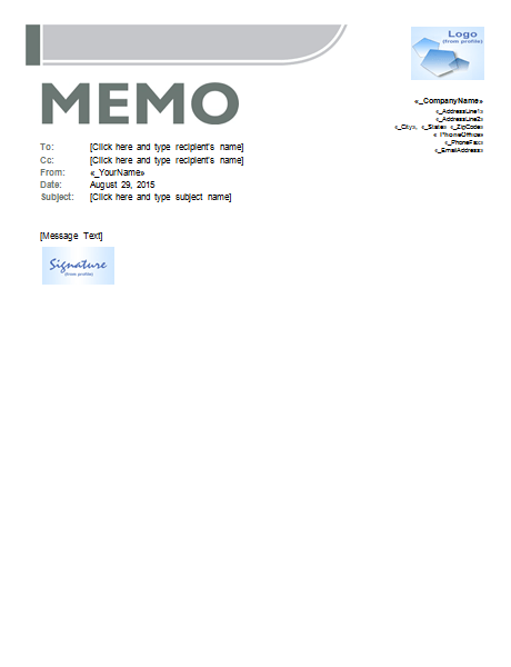 Memo Template Templates for Microsoft Word – Free Memo Template