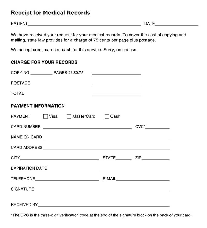 13 Free Medical Receipt Bill Templates Word Pdf