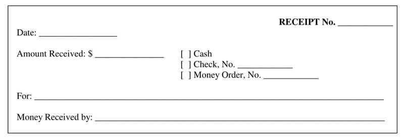 Printable Official Receipt