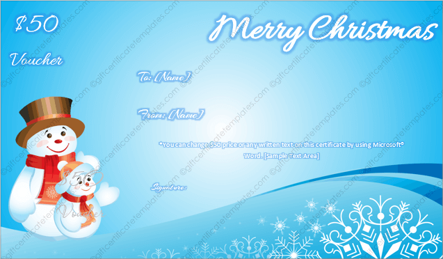 24 christmas new year gift certificate templates printable free christmas card templates for word yadclub Image collections