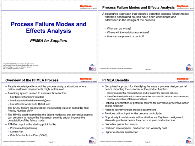 5 fmea examples for excel powerpoint and pdf for Process fmea template