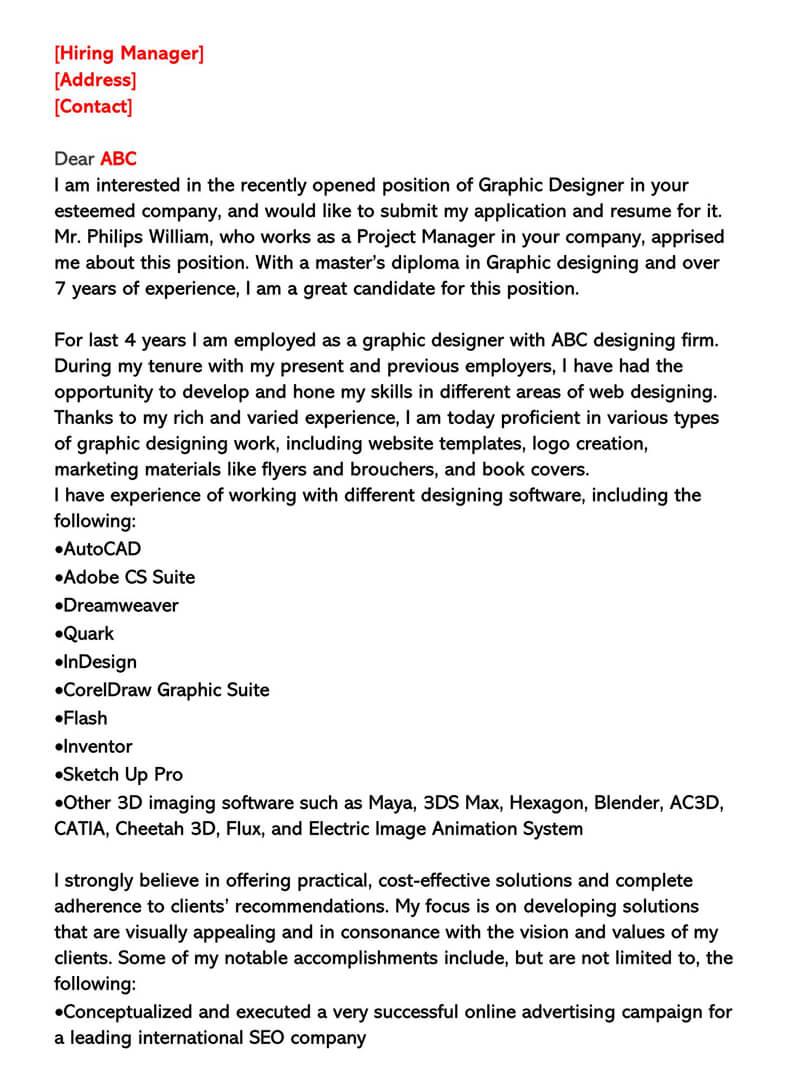 interior design cover letter no experience job