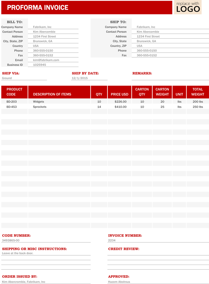 custom invoice templates