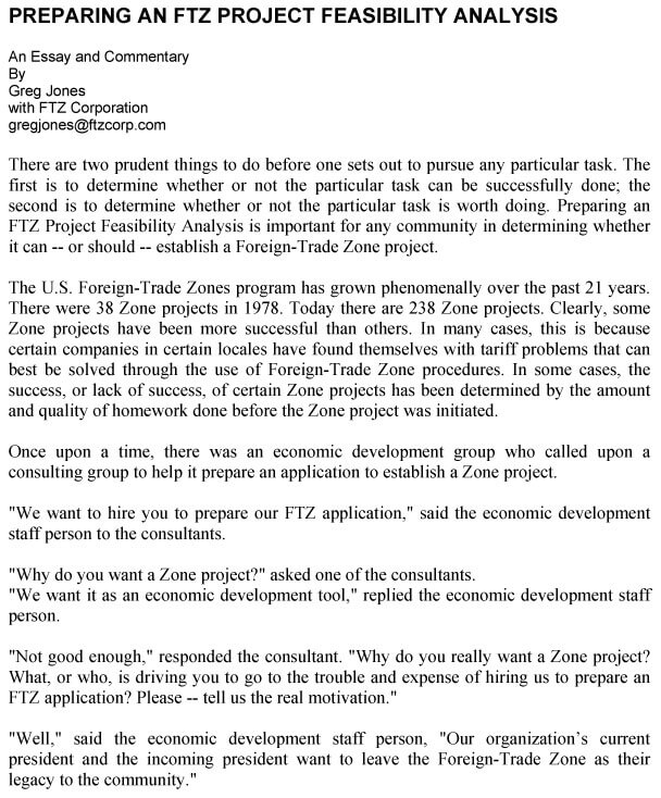 Project Feasibility Analysis