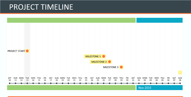 Project Timeline Template For Excel And Word - Ms excel timeline template