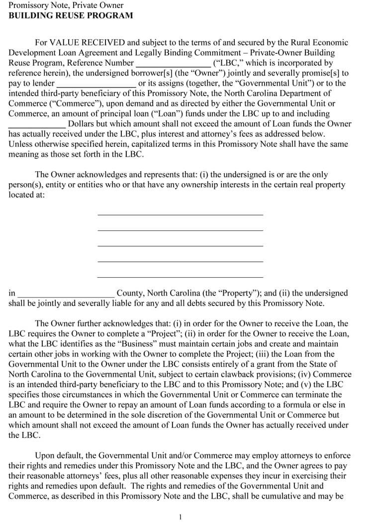 free promissory note