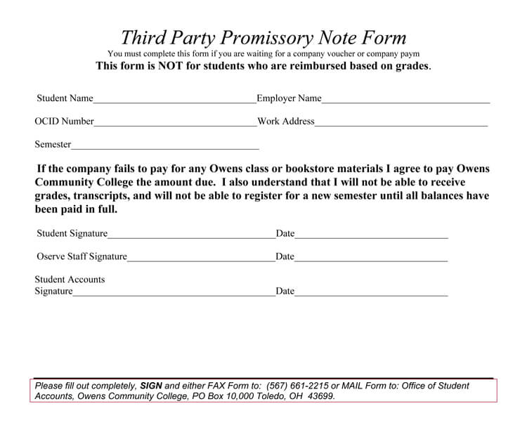 personal promissory note