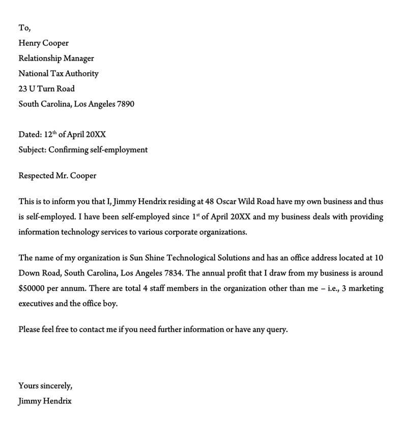 Proof of Employment Letter Template 08