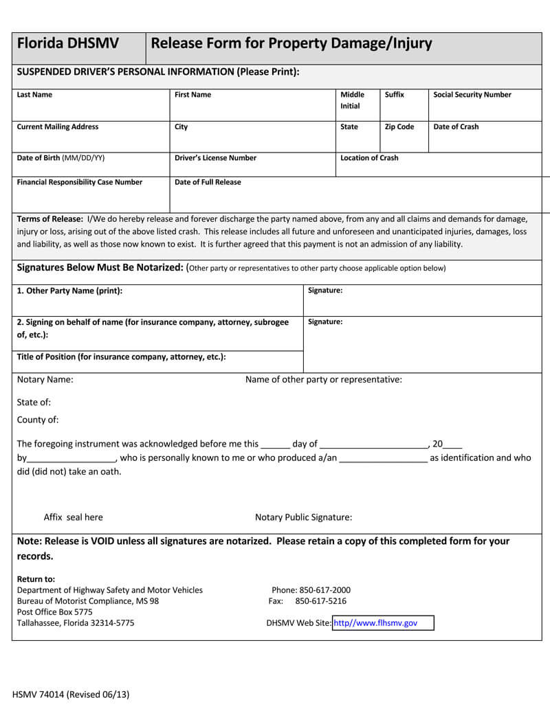 Release Of Liability Form 25 Samples Templates