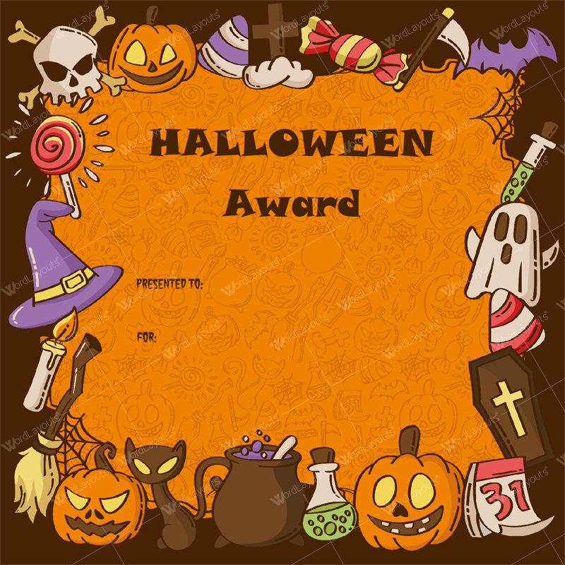 halloween award certificates 5 printables for microsoft word