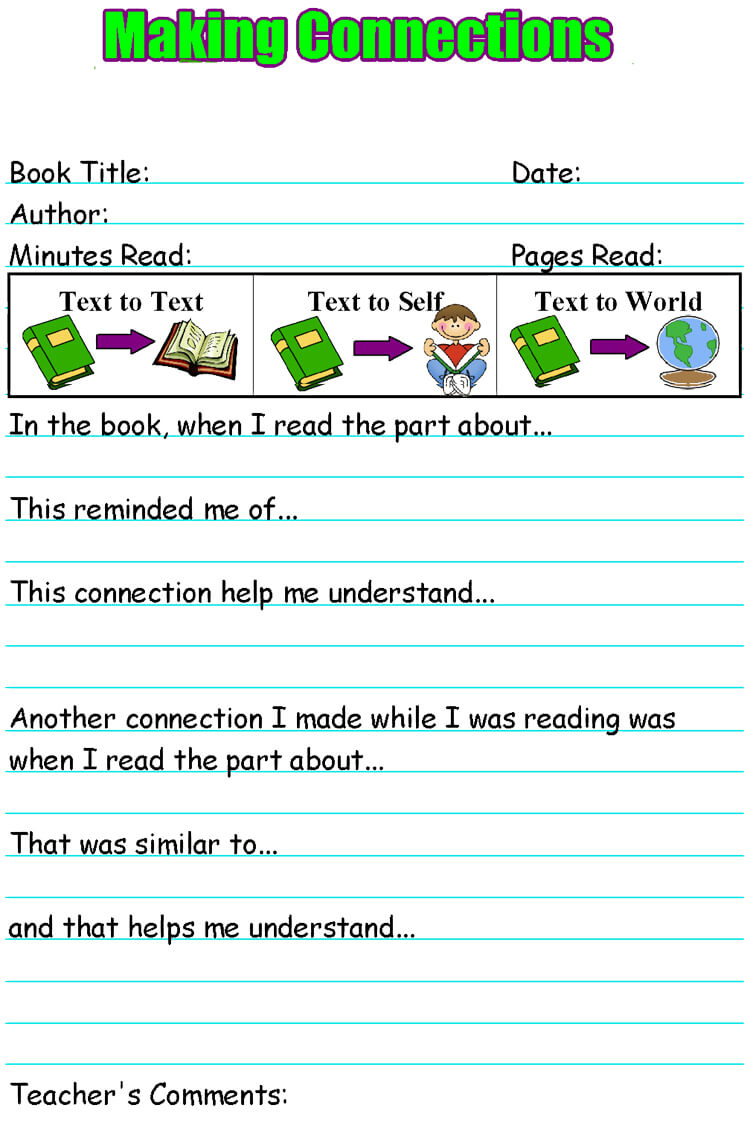 Reading Response worksheet printable