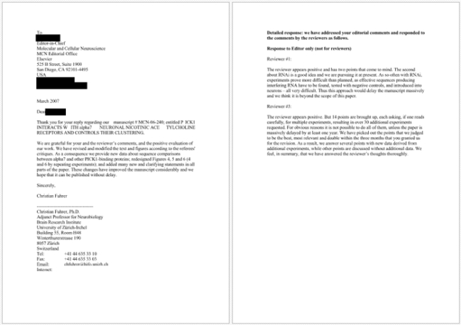 rebuttal letter sample
