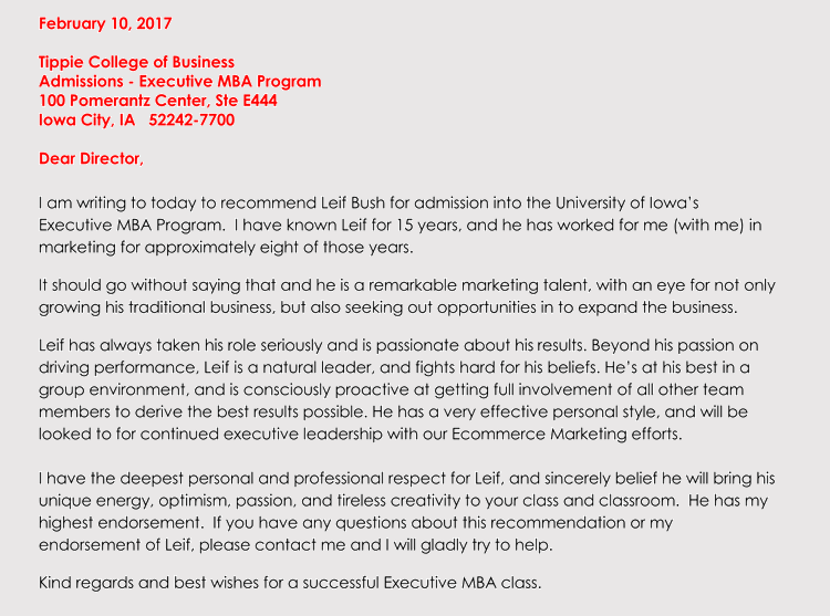 Executive Letter Of Recommendation from www.wordtemplatesonline.net