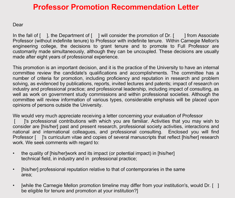 20  samples of recommendation letters  with professional