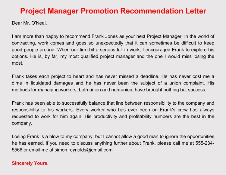 editable promotion recommendation letter