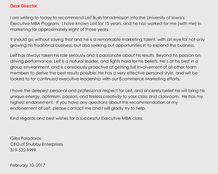 editable academic recommendation letter