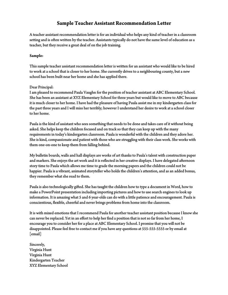 Format For A Letter Of Recommendation from www.wordtemplatesonline.net