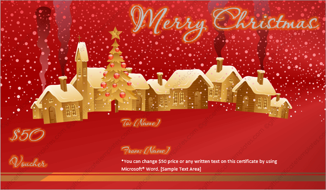 24 christmas new year gift certificate templates red and golden christmas gift template yelopaper Choice Image