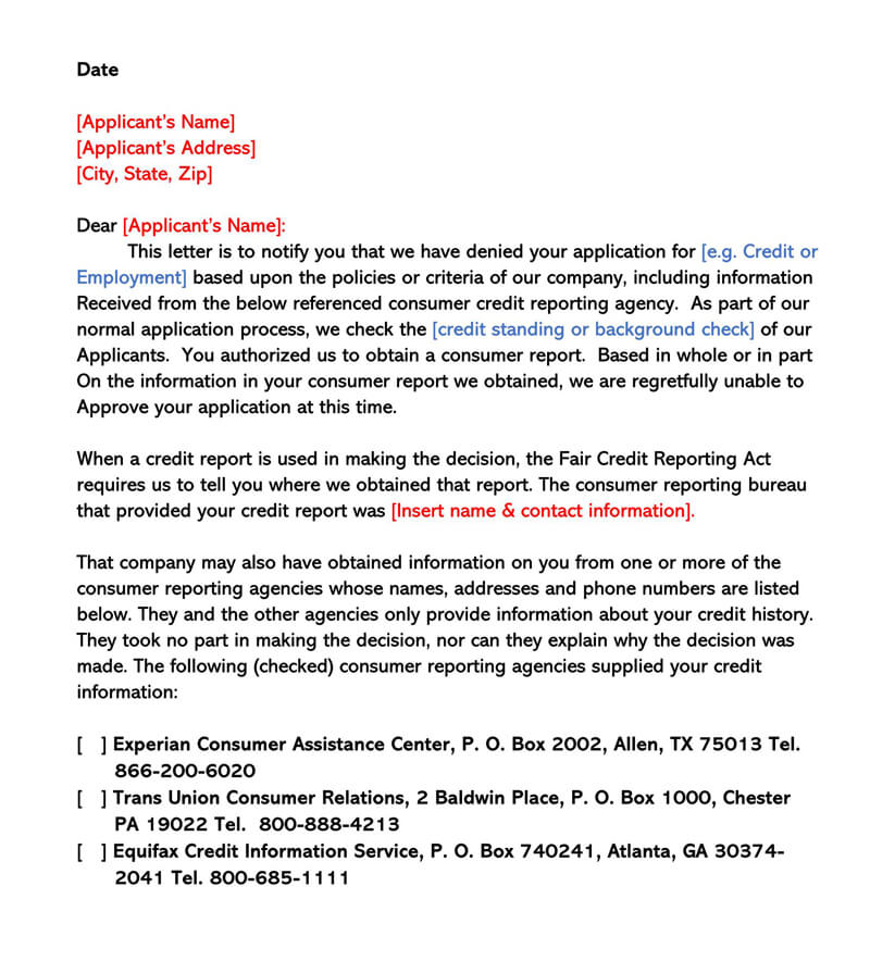 Credit Explanation Letter Sample from www.wordtemplatesonline.net