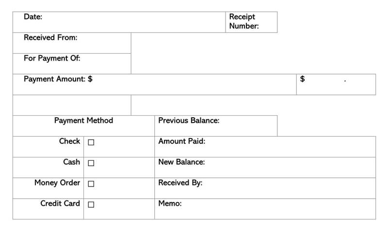 30 Free Rent Receipt Templates Excel Word To Print At Home
