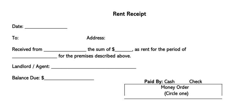 Rent Receipt 04
