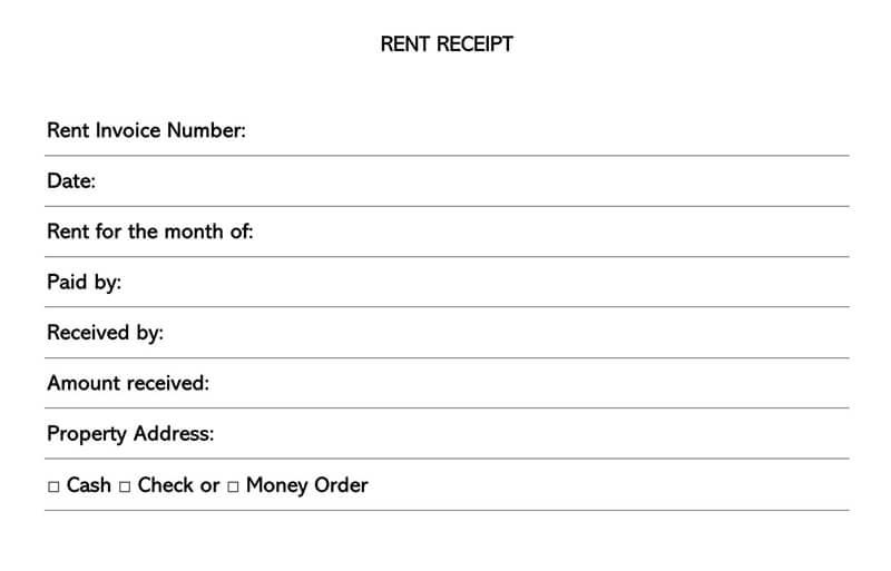 Rent Receipt 05