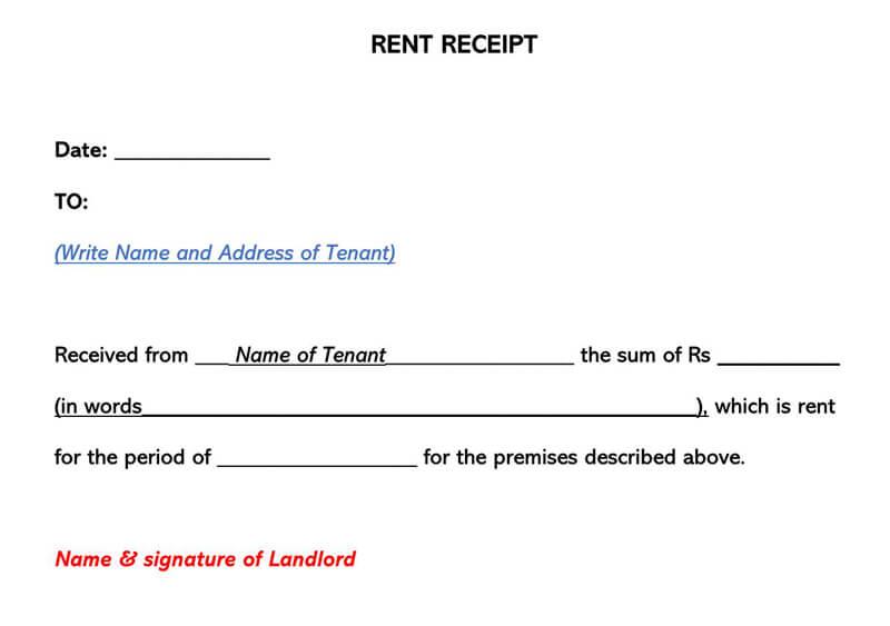 Rent Receipt 07