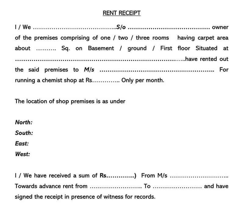 Rent Receipt 09