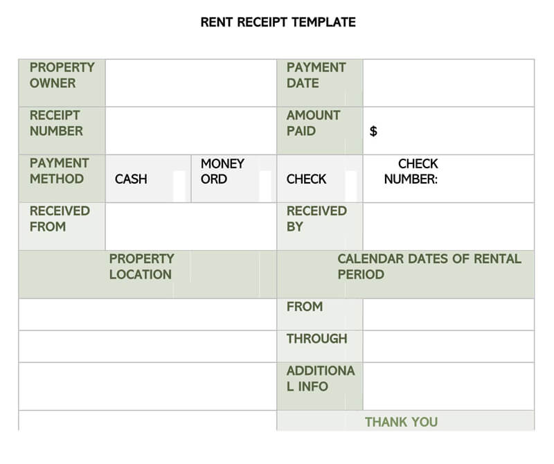 Rent Receipt 12